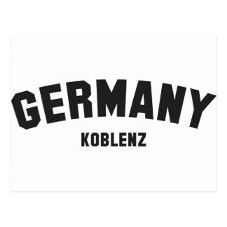 GERMANY KOBLENZ POSTCARD