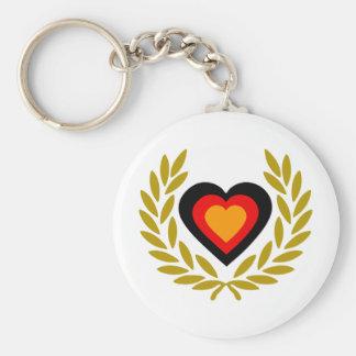 germany-laurel-heart. llavero redondo tipo pin