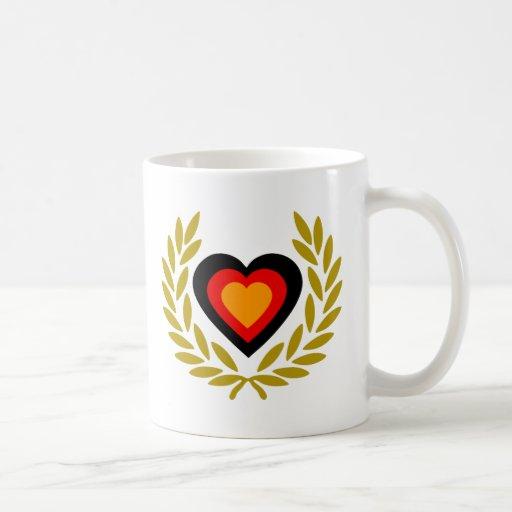 germany-laurel-heart. taza clásica