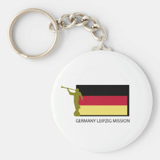 GERMANY LEIPZIG MISSION LDS CTR BASIC ROUND BUTTON KEYCHAIN