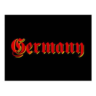 Germany logo tees and other great Gifts Postcard