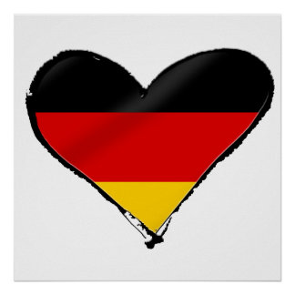 Germany love heart - My big German heart Print