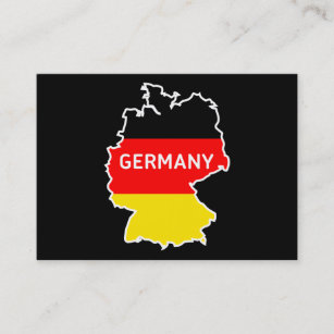 Berlin germany business cards zazzle germany map and flag berlin skyline business cards reheart Gallery