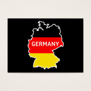 Germany berlin flag business cards templates zazzle germany map and flag berlin skyline business cards reheart Choice Image