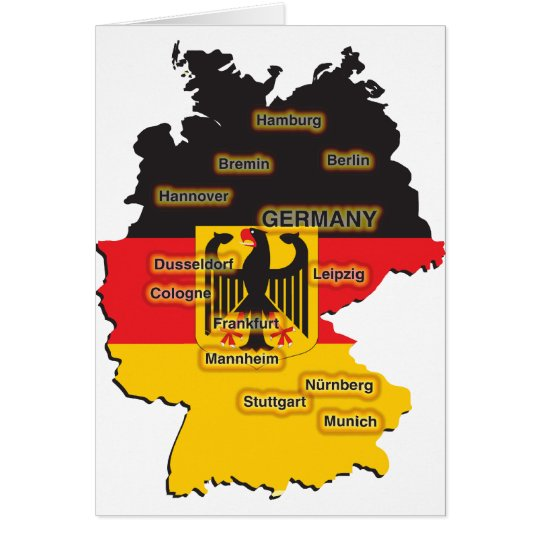 Germany Map Card