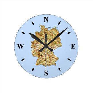 Germany Map Clock