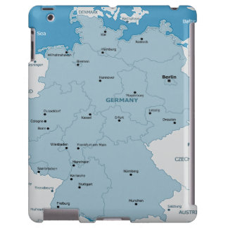 Germany  Map iPad Barely Case