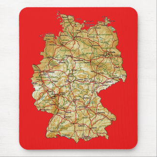 Germany Map Mousepad