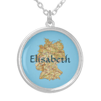 Germany Map + Name Necklace