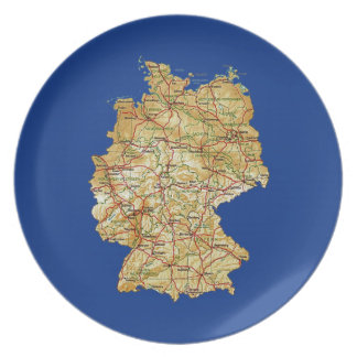 Germany Map Plate