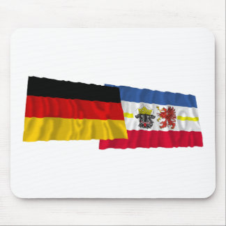 Germany & Mecklenburg-Vorpommern Waving Flags Mouse Pad