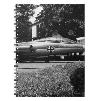 Germany Munich Deutsch Museum starfighter 1970 Spiral Notebook