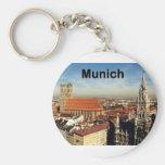 Germany Munich (St.K) Basic Round Button Keychain