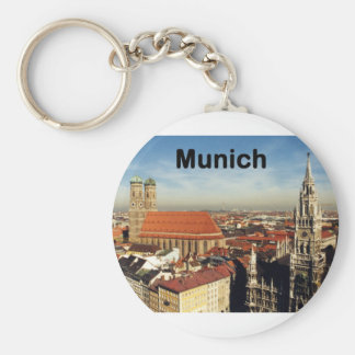 Germany Munich (St.K) Basic Round Button Keychain