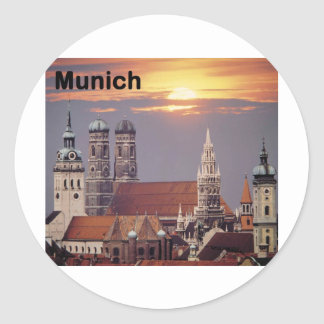 Germany Munich (St.K) Classic Round Sticker