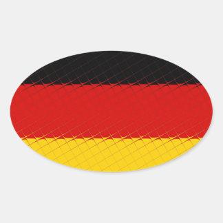 Germany National Flag Oval Sticker