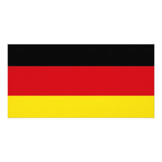 Germany National Flag Personalized Photo Card