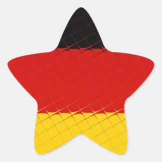Germany National Flag Star Sticker