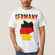 Germany National Map T Shirt