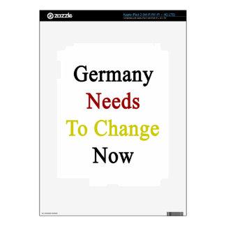 Germany Needs To Change Now. iPad 3 Skin