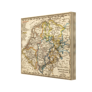 Germany, Netherlands, and Belgium Canvas Print