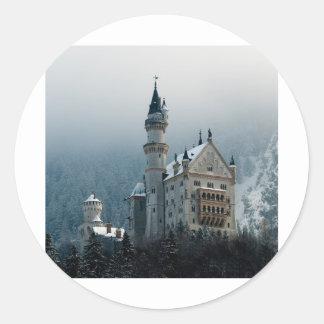 Germany Neuschwanstein Castle Round Sticker