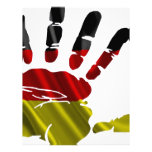 GERMANY NICE HAND FLAG PRODUCTS CUSTOMIZED LETTERHEAD
