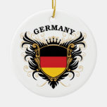 Germany Double-Sided Ceramic Round Christmas Ornament