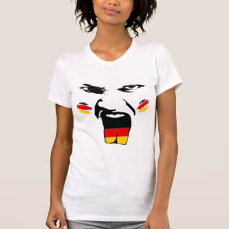 Germany Painted Fan Female Face T-Shirt