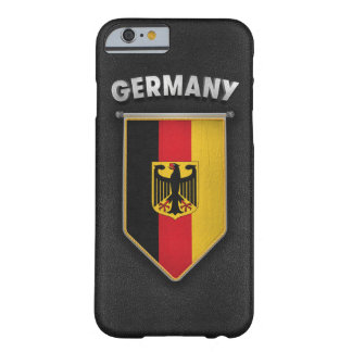 Germany Pennant with high quality leather look Barely There iPhone 6 Case