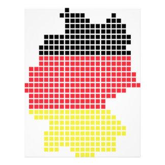 germany pixel flag personalized letterhead