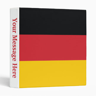 Germany Plain Flag 3 Ring Binder