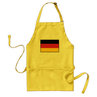 Germany Plain Flag Adult Apron