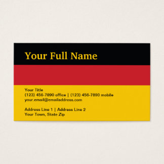 Germany Plain Flag Business Card