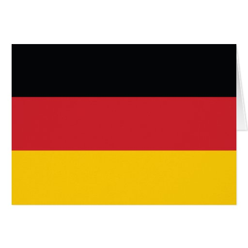 Germany Plain Flag Cards