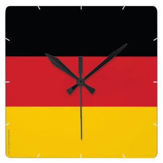 Germany Plain Flag Square Wall Clocks