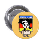 Germany Pommel Horse Panda 2 Inch Round Button