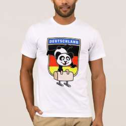 Men's Basic American Apparel T-Shirt with German Pommel Horse Panda design