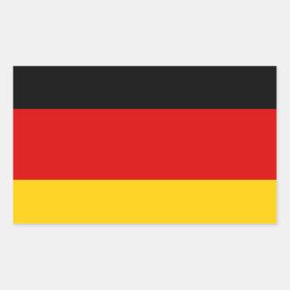 GERMANY RECTANGULAR STICKER