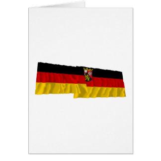 Germany & Rheinland-Pfalz Waving Flags Card