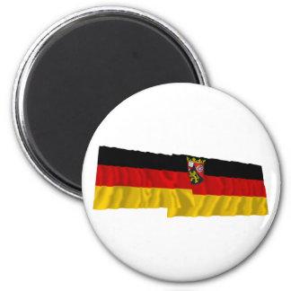 Germany & Rheinland-Pfalz Waving Flags Fridge Magnet