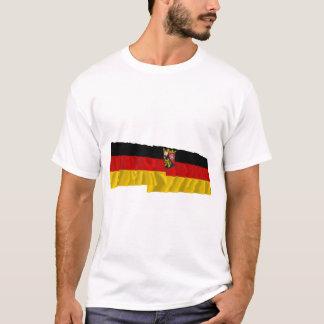 Germany & Rheinland-Pfalz Waving Flags T-Shirt