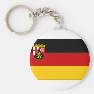 Germany Rhineland Flag Basic Round Button Keychain