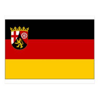 Germany Rhineland Flag Postcard