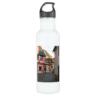 Germany, Rhineland, Rhens, half timbered  houses 1 Stainless Steel Water Bottle