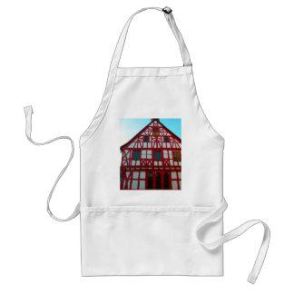 Germany, Rhineland, Rhens, half timbered houses Adult Apron