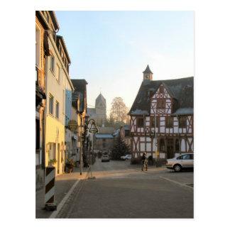 Germany, Rhineland, Rhens, halftimbered houses 10 Postcard