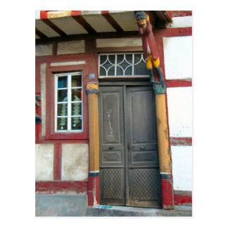 Germany, Rhineland, Rhens, halftimbered houses 14 Postcard