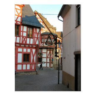 Germany, Rhineland, Rhens, halftimbered houses 1 Postcard