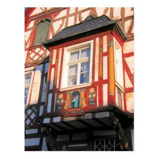 Germany, Rhineland, Rhens, halftimbered houses 2 Postcard